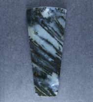 Gorgeous Black Plume Agate Designer Cabochon  #18596