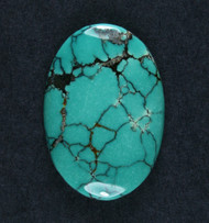 Gorgeous Hubei Spiderweb Turquoise Cabochon  #18605