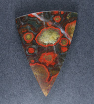 Red and Green Morgan Hill Poppy Jasper Designer Cabochon  #18642