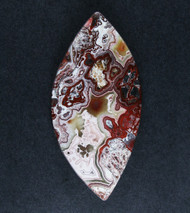 Crazy lace Agate Cabochon- Red, Pink and White  #18643