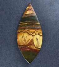 Dramatic Australian Tiger Eye Cabochon -  Gold with Hematite  #18657