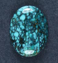 Gorgeous Hubei Spiderweb Turquoise Cabochon  #18668