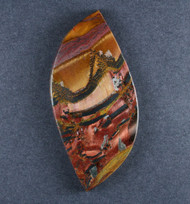 Dramatic Marra Mamba  Cabochon -   Red and Yellow  #18694