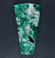 Chrysocolla and Malachite in Agate Cabochon  #18703