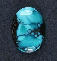 Gorgeous Hubei Spiderweb Turquoise Cabochon  #18715