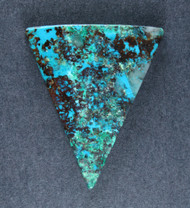 Deep Blue Chrysocolla w Cuprite Designer Cabochon   #18736
