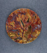 Dramatic Cabochon of Bloody Basin Plume Agate   #18785