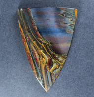 Dramatic Marra Mamba  Cabochon -  Rare Copper Red and Blue   #18813