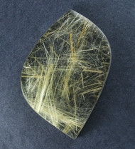 Fantastic! Rutilated Quartz Cabochon -w- Golden Needles  #18871