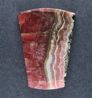 Deep Pink Translucent Rhodochrosite Cabochon - Fantastic Color  #18885