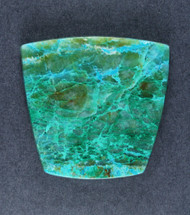 Bright Blue Chrysocolla/Malachite in Agate Cabochon   #18898
