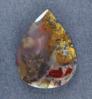 Beautiful Laguna Agate Cabochon w Sagenite  #18920