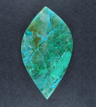 Bright Blue Chrysocolla/Malachite in Agate Cabochon   #18924