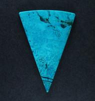 Bright Blue Arizona Chrysocolla in Agate Cabochon   #18945