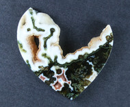 Outstanding Horse Canyon Plume Agate Cabochon  #18950