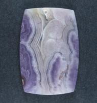 Intricate Purple Aztec Lace Agate Designer Cabochon  #18980