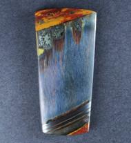 Dramatic Marra Mamba  Cabochon -  Rare Cobalt Blue w Red   #18998