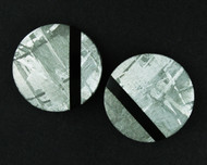 Gibeon Meteorite/ Black Onyx Composite Pair  #19028