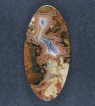 Rare Teepee Canyon Agate Designer Cabochon  #19032