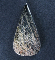 Fantastic! Rutilated Quartz Cabochon -w- Golden Needles  #19059