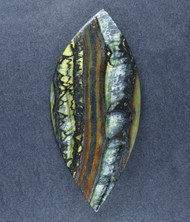 Dramatic Australian Tiger Iron Cabochon -  Great colors  #19114