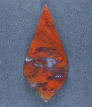 Dramatic designer cabochon of Red Flame Agate  #19127