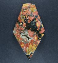 Colorful Malignano Brecciated Jasper Cabochon    #19208