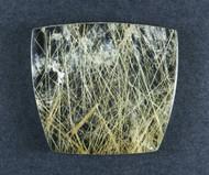 Fantastic! Rutilated Quartz Cabochon -w- Golden Needles  #19216