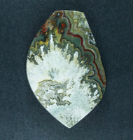 Black Crazy lace Agate Cabochon- Black, Red and Yellow  #19251