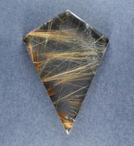 Fantastic! Rutilated Quartz Cabochon -w- Golden Needles  #19259