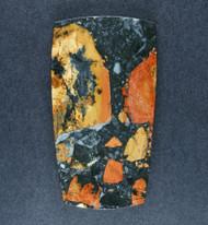 Colorful Malignano Brecciated Jasper Cabochon  #19346