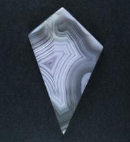 Top Shelf Laguna Agate Cabochon-  White w Purple   #19370