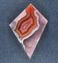 Gorgeous Laguna Agate Cabochon- Red, Pink and White   #19427