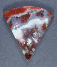 World Class Red and White Carey Plume Agate Cabochon