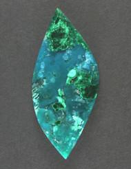 Deep Blue Gem Chrysocolla Chatoyant Malachite Cabochon 13366