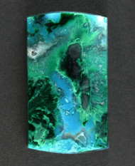 Deep Blue Gem Chrysocolla Chatoyant Malachite Cabochon