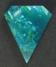Deep Blue Gem Chrysocolla + Malachite Designer Cabochon