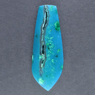 Bright Blue Gem Chrysocolla/Malachite in Agate Cabochon 14235