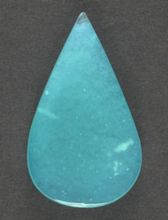 Bright Blue Gem Chrysocolla in Agate Cabochon 13632