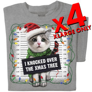 I knocked over the xmas tree T-shirt | x4 Family Pack | SIZE X-LARGE ONLY