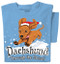 Dachshund through the Snow T-shirt   Santa Dog Tee