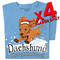 Dachshund Through the Snow T-shirts | x4 Family Pack | SIZE X-LARGE ONLY