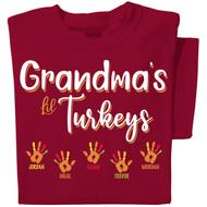 Grandpa's Turkeys Personalized T-shirt