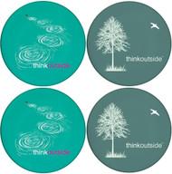 Think Outside Tree & Stone Skip Sandstone Ceramic Coasters | 4pack