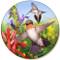 Hummingbird  Sandstone Ceramic Coaster   Front View