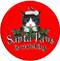 Santa Paws is Watching Cat Sandstone Ceramic Coaster | Sandstone Ceramic Coaster | Front View