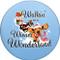 Walkin' in a Wiener Wonderland Sandstone Ceramic Coaster | Front View