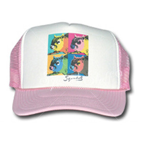 SqWarhol Pink Trucker Hat | Squirrel Hat