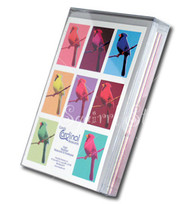 Candy Cardinals Assorted | Boxed Set of 8 | Bird Cards