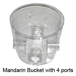 Mandarin Bucket with 4 Ports